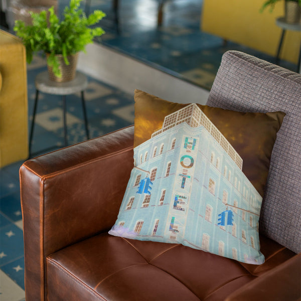 Decorative Velvet Square Cushion Pillow - NYC Hotel