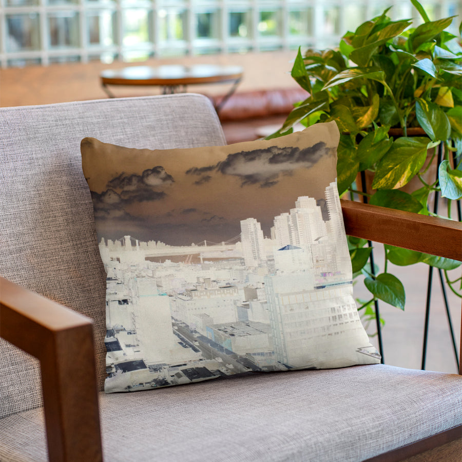 MizDragonfly Home Decor Cushion Pillow Skyline Lifestyle