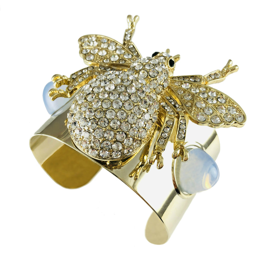 MizDragonfly Jewelry Bee Bracelet British Vogue Angle