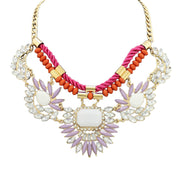 MizDragonfly Jewelry Kadence Crystal Statement Bib Collar Necklace Gallery