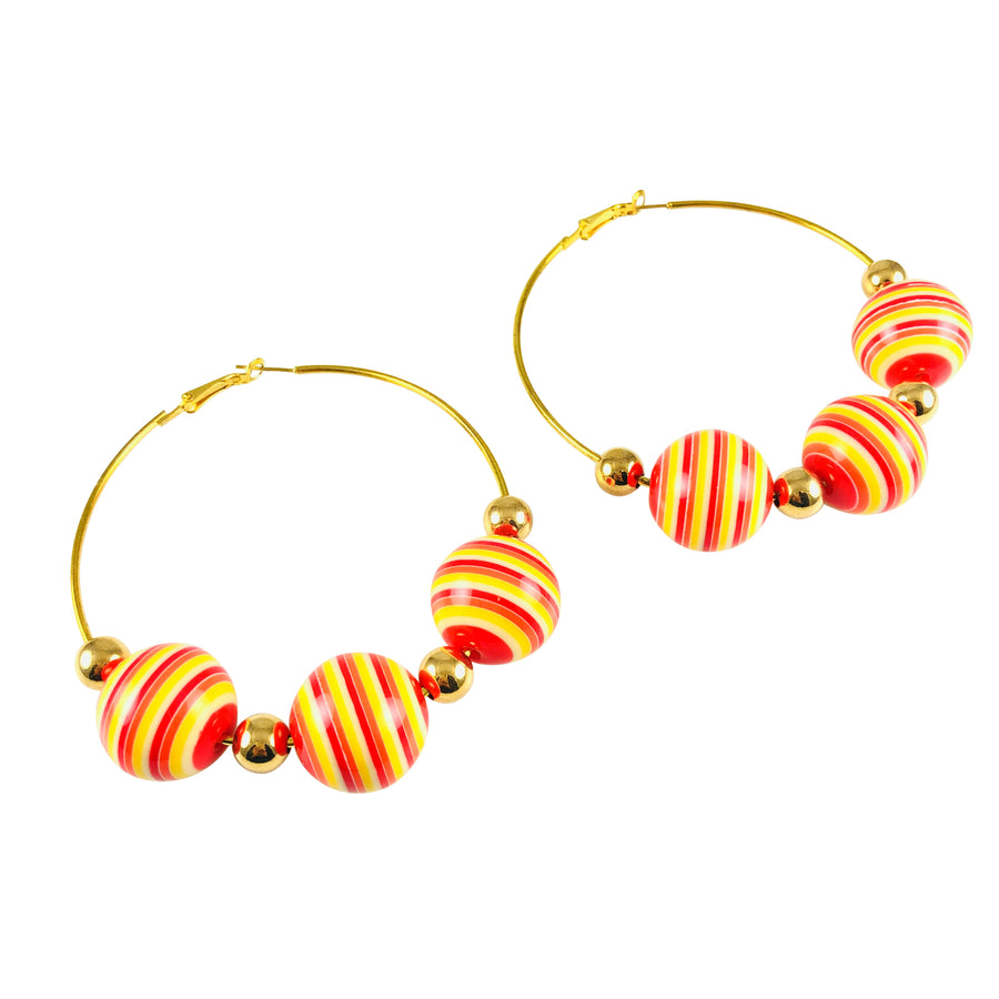 MizDragonfly Jewelry Linea Vintage Stripe Gold Hoop Earrings Gallery 2000x2000