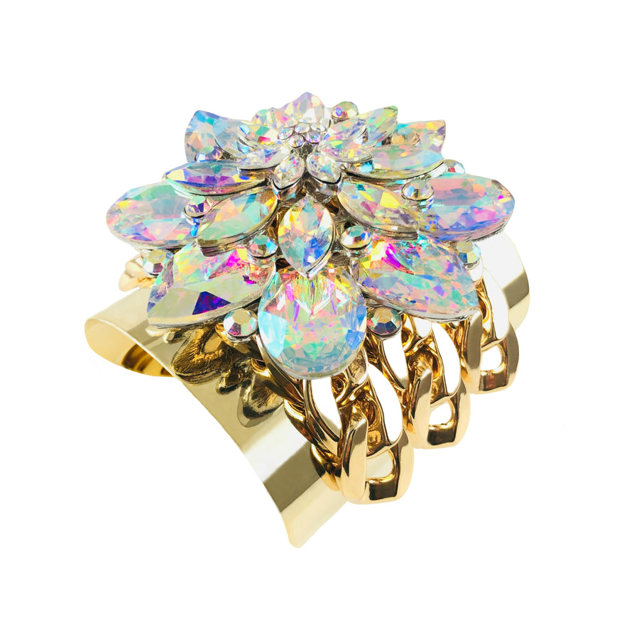 Marguerite Crystal Statement Bracelet