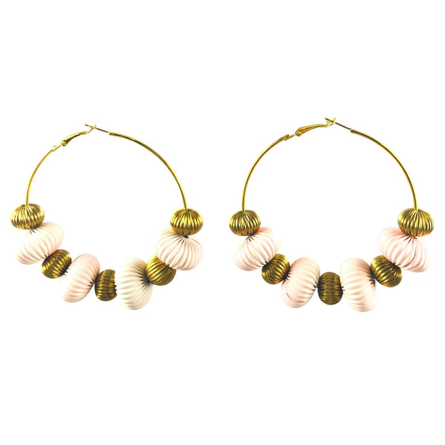 MizDragonfly Jewelry Vintage Wavy Disk Stellar Gold Hoop Earrings Gallery 2000x2000