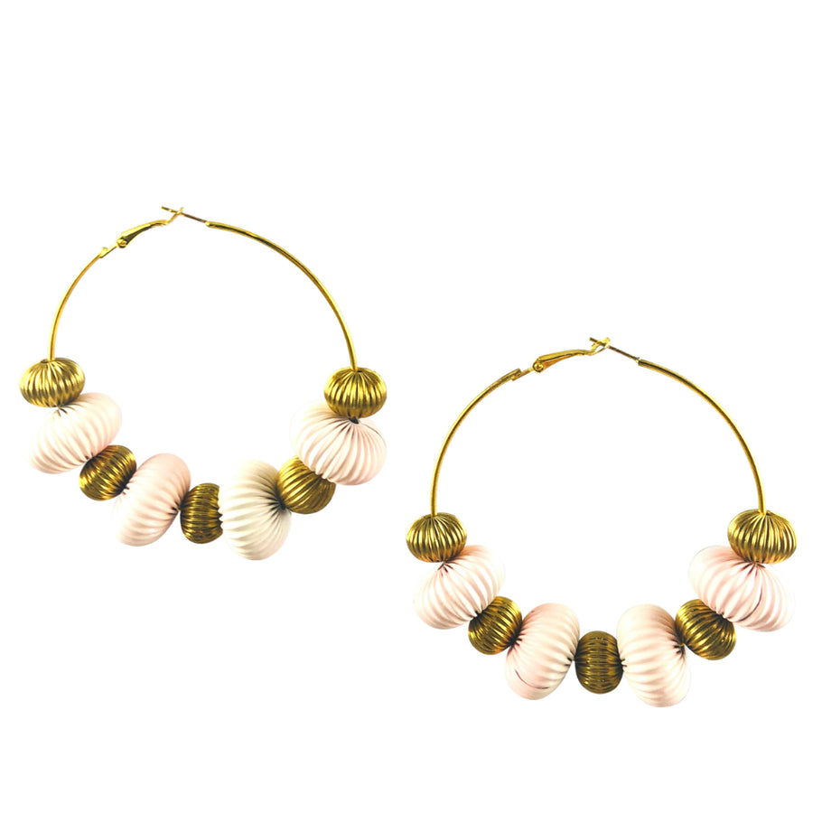 MizDragonfly Jewelry Vintage Wavy Disk Stellar Gold Hoop Earrings Gallery