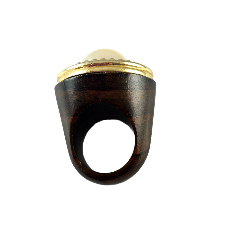 Oshea Vintage Wood Ring - As seen in 1968 Magazine