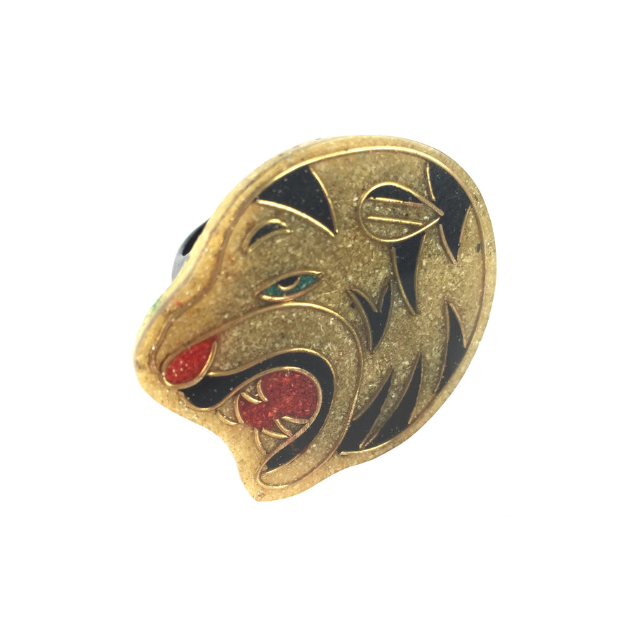 Tiger Vintage Lucite Ring - As seen in BLOWE Magazine