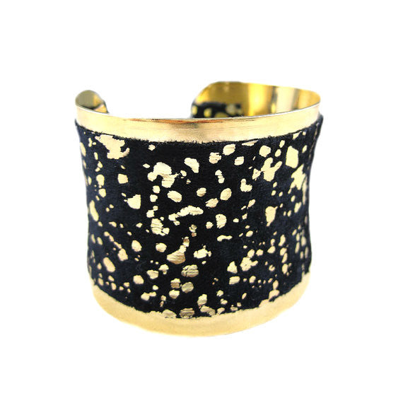 Vintage Black and Gold Studio 54 Cuff