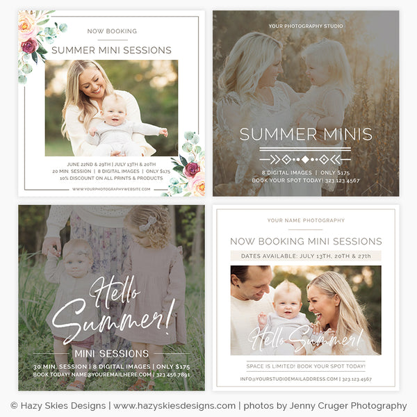 Summer Mini Session Templates for Photography Marketing