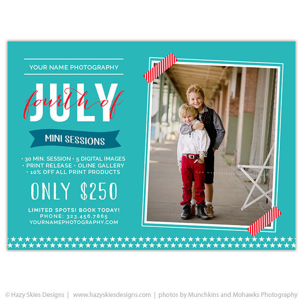 Mini Session Marketing Template | Fourth of July