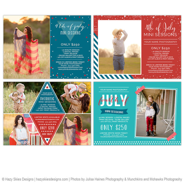 Mini Session Marketing Templates | 4th of July Bundle