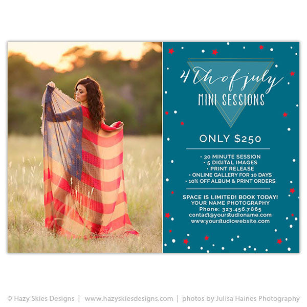 Mini Session Marketing Template | 4th of July Minis