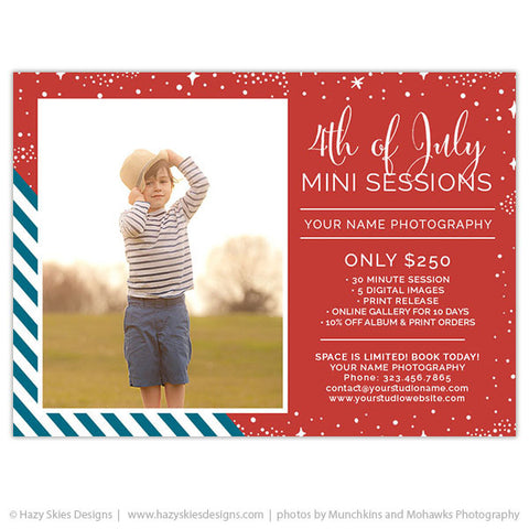 4th of July Mini Session Template | Stars & Stripes