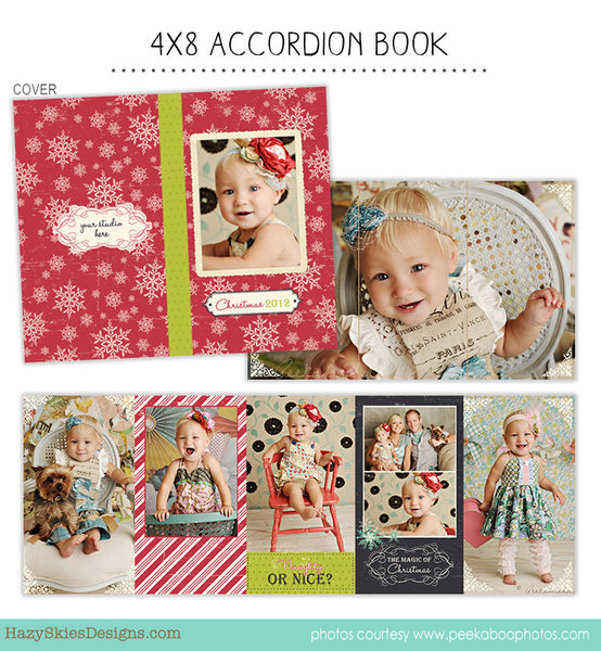 4x8 Accordion Book Template for Photographers