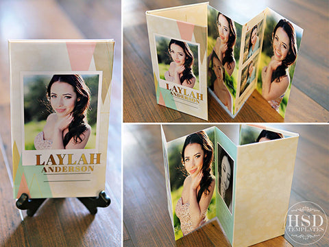 4x8 Accordion Book Template | Triangles