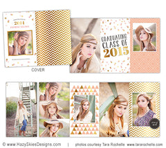 4x8 Accordion Book Template | Confetti