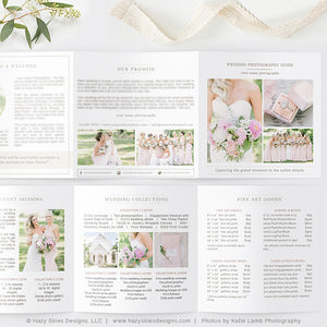 Wedding Photography Pricing Trifold | Organic