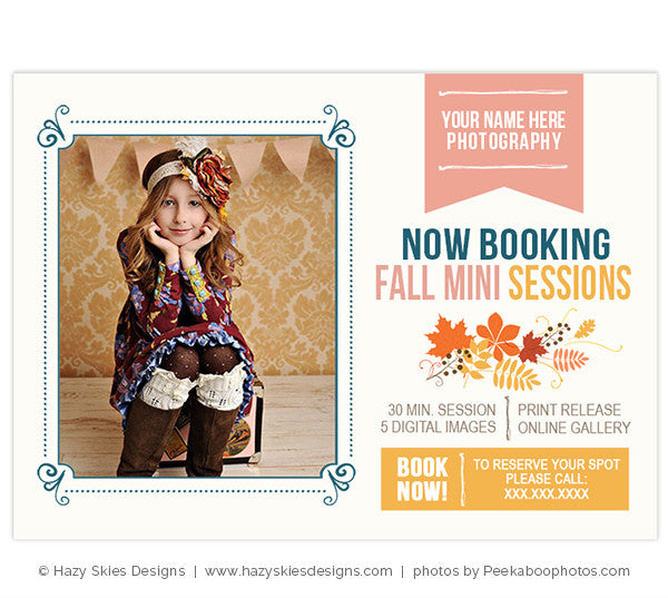 Fall Mini Session Marketing Template
