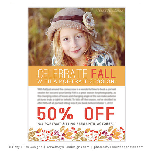 Fall Photography Marketing Template