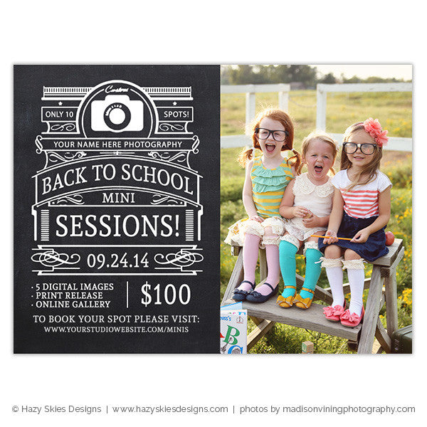 Mini Session Template | Back to School