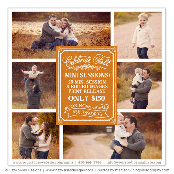 Fall Mini Session Advertisement | Celebrate Fall