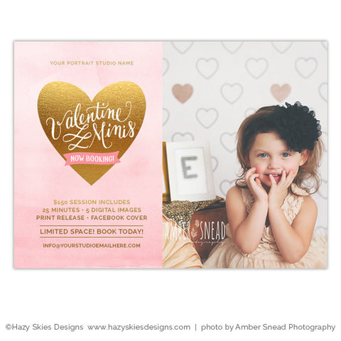 Valentine's Mini Session Marketing Template | Valentine Minis