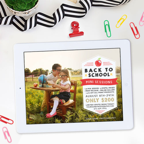 Back to School Mini Session Template | Back to School