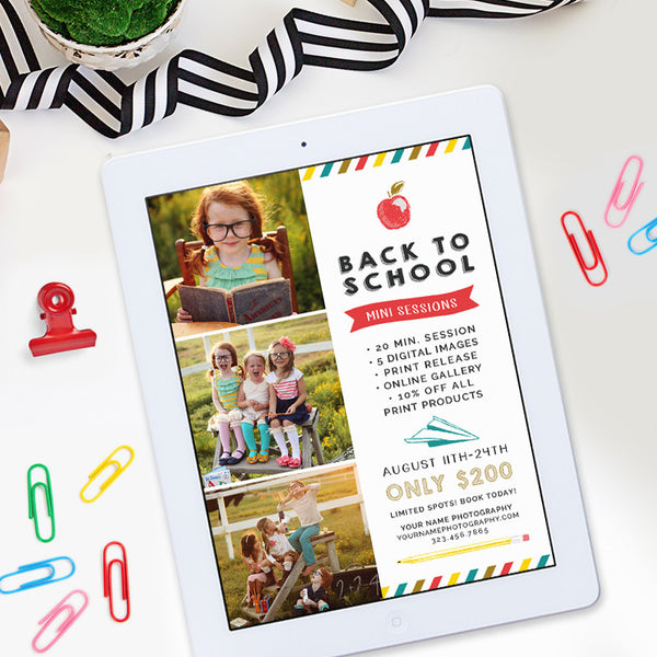 Back to School Mini Session Template | New School Year
