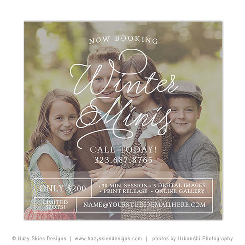 Winter Mini Session Template | Winter Time