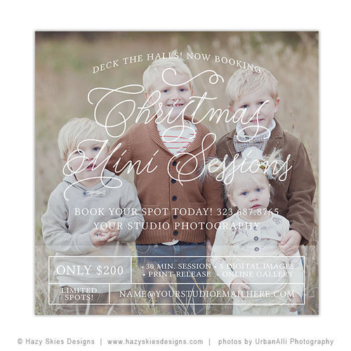 Christmas Mini Session Template | Deck the Halls