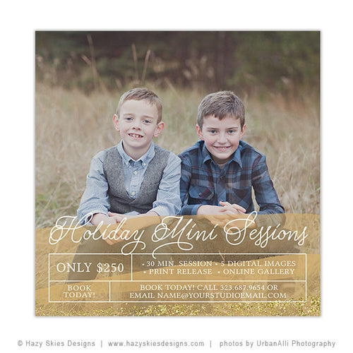 Holiday Mini Session Template | Holiday Portraits