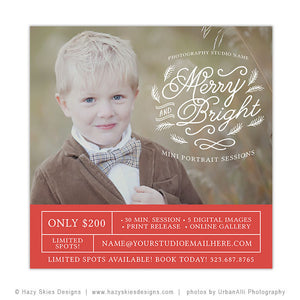 Christmas Mini Session Template | Merry & Bright Minis