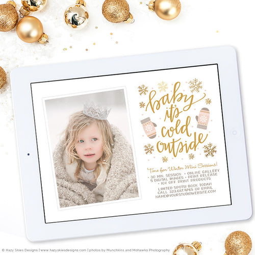 Mini Session Marketing Template | Time for Winter