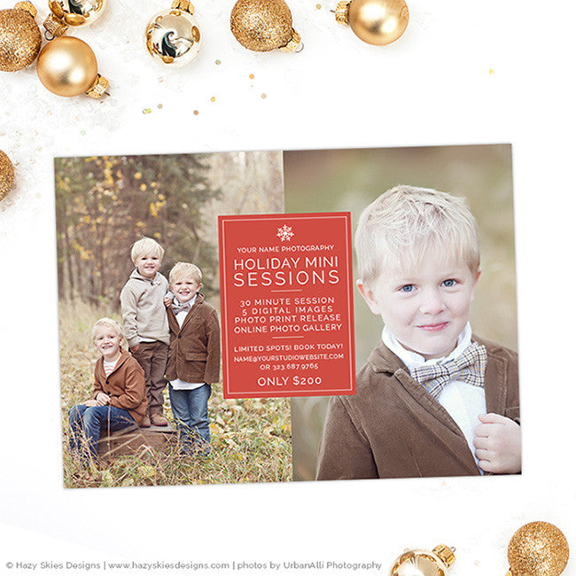 Holiday Mini Session Template | Snowflake