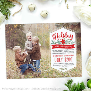 Holiday Mini Session Template | Love & Laughter