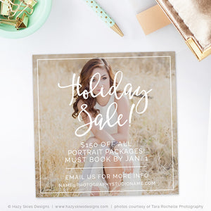 Photography Marketing Template | Holiday Sale