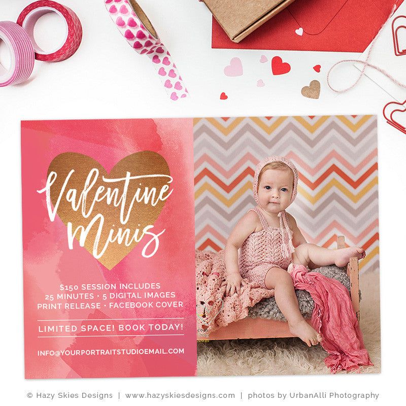 Valentine's Mini Session Template | I Heart Minis