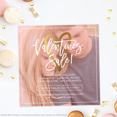 Photography Marketing Template | Valentine's Sale