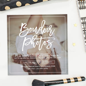 Boudoir Photography Marketing Template | Stunning