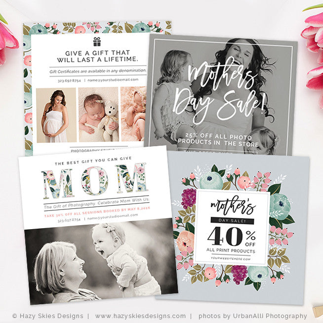Mothers Day Sale Marketing Template Photoshop Photography - Photography ad template