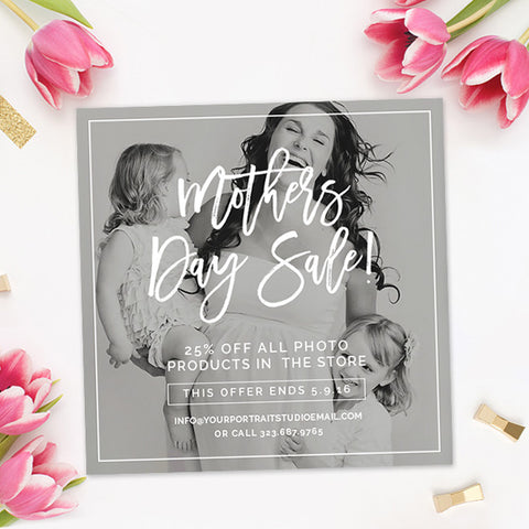 Photography Marketing Template | Mother's Day Sale