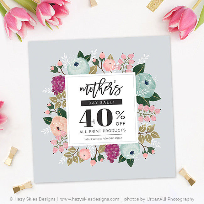 mothers day sale phorography marketing template advertisement