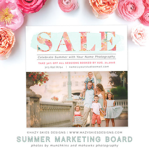 Summer Marketing Board | Tropical Breeze