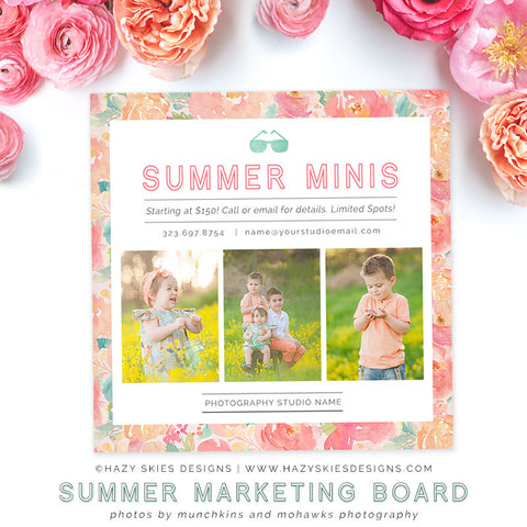 Summer Mini Session Template | Tea Garden