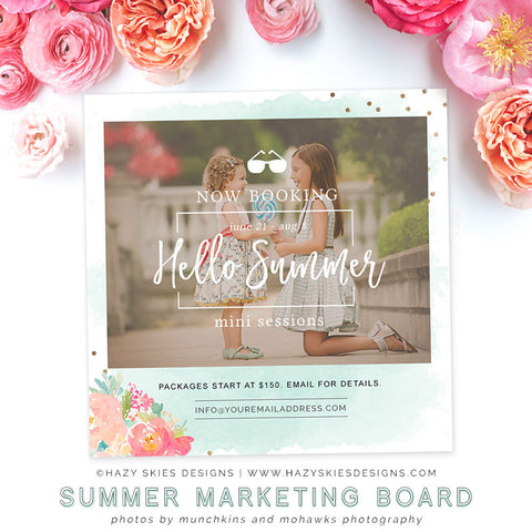 Summer Mini Session Template | Sea Side