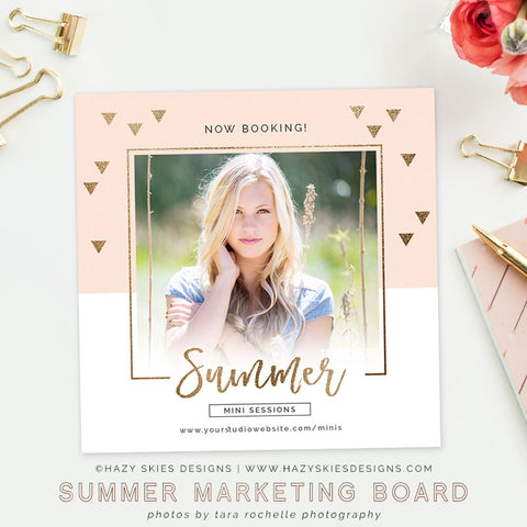 Summer Mini Session Template | Paradise Pink
