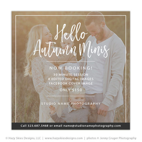 Mini Session Template | Hello Autumn Minis