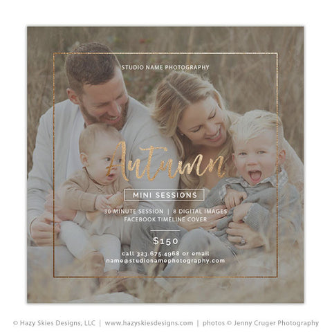 Fall Mini Session Template | Autumn Breeze