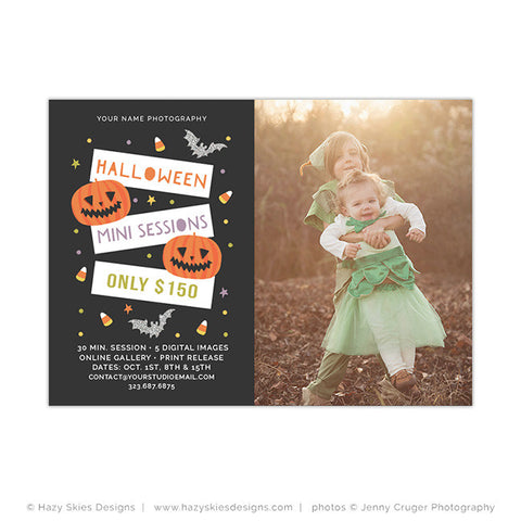 Halloween Mini Session Template | Jack-o'-lanterns