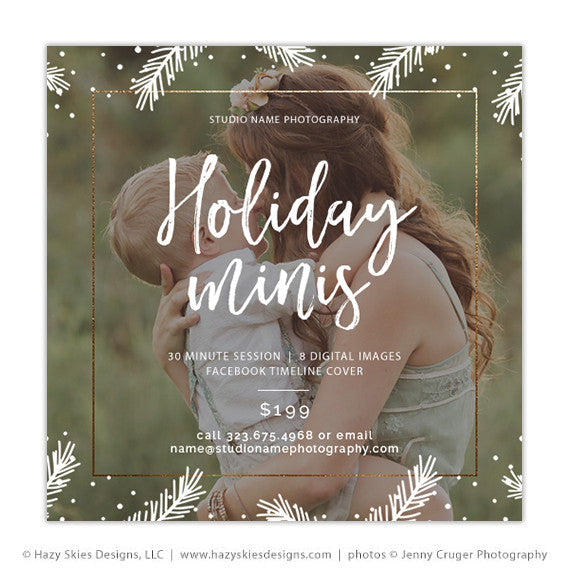 Holiday Mini Session Template Christmas Mini Session Template AD - Facebook marketing templates