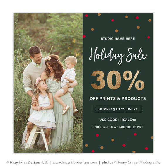 Photography Marketing Template | Holiday Confetti